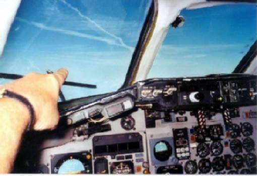 Chemtrail aus Sicht des Cockpits